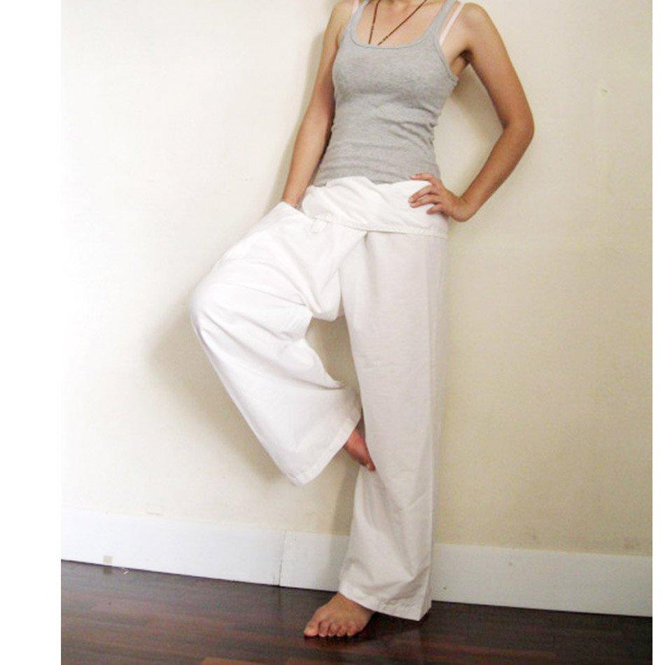 Thai Fisherman Pants brown cotton S M L (B04)