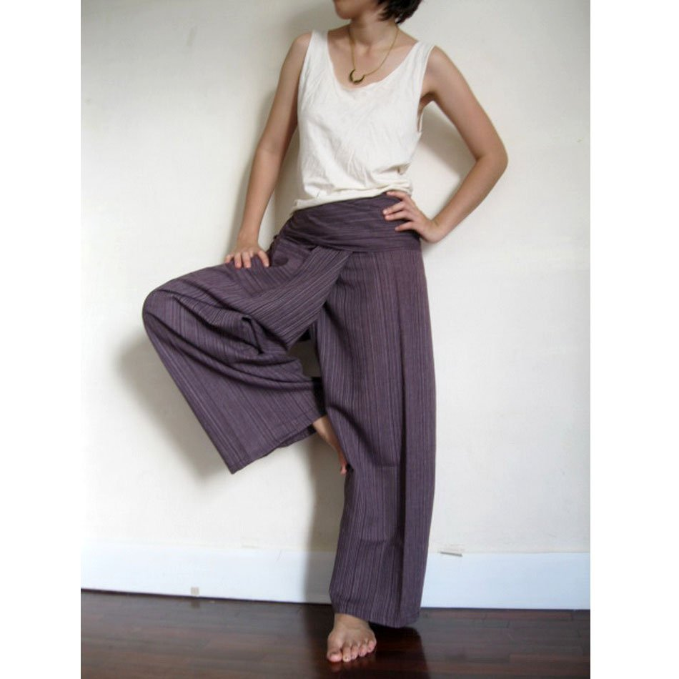 Thai Fisherman Pants brown cotton 019