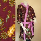 Batik cotton short bridesmaid kimono Robe R17