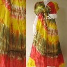 New Japanese Shibori Gypsy Hippie  TIE DYE Cotton maxi Kimono dress S-L (T17)