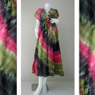 Free shipping Boho hippie tie dye cotton maxi kimono dress (TD468)