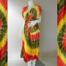 Free shipping New Tropical Colorful Tie Dye Cotton Long Kimono Summer Dress ( TD344)