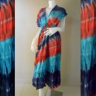 Free shipping  New Tropical Summer  Tie Dye Cotton Boho Hippie V-Neck Long Kimono TD332