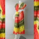 Free shipping New Tropical Colorful Tie Dye Cotton Long Kimono Summer Dress ( TD326)