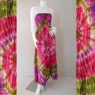 Free Shipping 2 in 1 Boho Hippie Summer Tie Dye Smock Tube Dress /Skirt (TD96)