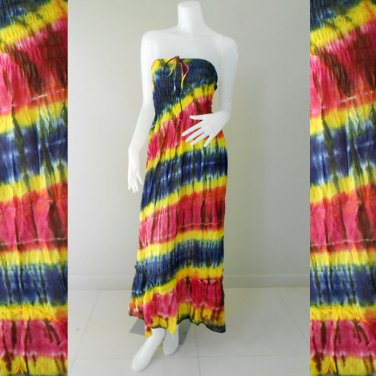 Free Shipping Tie Dye Summer Long Smock Sexy Dress/Skirt(TD92)