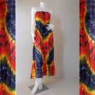 Free Shipping Tie Dye Summer Long Smock Maxi Dress  Halter/Skirt (TD 82)