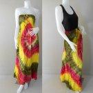 Free Shipping Tie Dye Summer Long Smock Maxi Dress Halter/Skirt (TD 72)