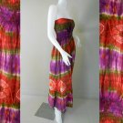 Free Shipping Smock Bust and Waist Wide Halter Tie Dye Cotton Long Summer Dress/Skirt ( Smock 420)