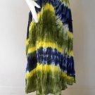 New Tropical Elastic Waist Long Tie dye Cotton Boho Hippie Gypsy Long skirt ( TD 156)