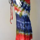 Free Shipping  tie dye cotton long ruffle summer casual wrap skirt S-L (TD 36)