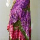 Free Shipping  Boho hippie Thai tie dye cotton ruffle wrap skirt S-L (TD 31)