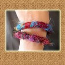 Free Shipping Handmade Colorful Nepal Silk String Bracelets (A10)