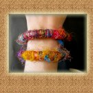 Free Shipping Colorful Nepal silk Handcrafted Bracelets  (A08)