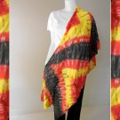 Free Shipping Tie Dye Cotton Colorful Sheer Scarf Shawl (09)