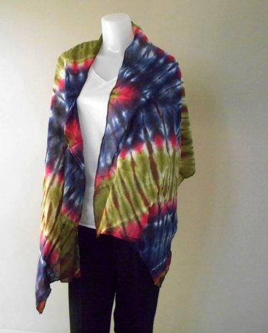 Ladies 100% Tie Dye Cotton Scarf Multi-Color Shawl (20)