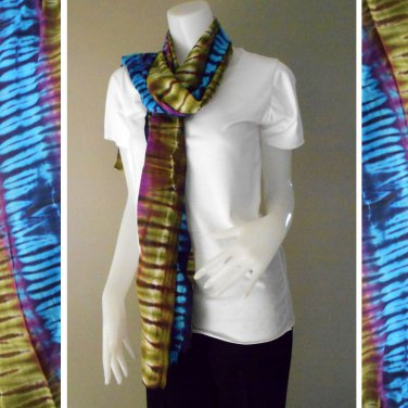 Free Shipping Multi-Color Tie Dye Cotton Handmade Scarf Wrap Shawl (21)