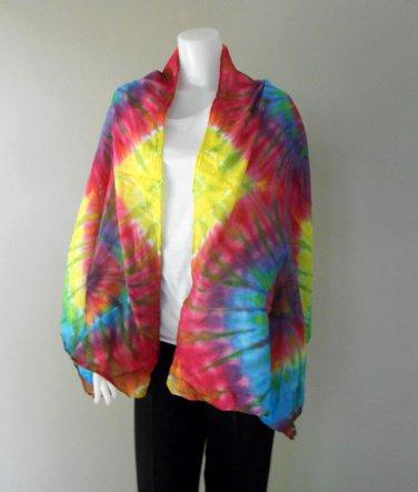 Chic Women Long Warm Scarves Soft Wrap Scarf Tie Dye Cotton Shawl (25)