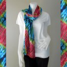 Chic Women Long Warm Scarves Soft Wrap Scarf Tie Dye Cotton Shawl (28)