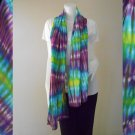 Free shipping scarf multi-color Tie dye cotton shawl (29)