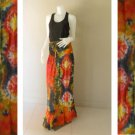 Plus size 2 in 1 Boho Hippie tie dye cotton smock dress maxi summer sundress long skirt (TD 112 )