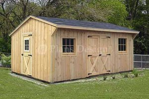 12 39 X 16 39 Saltbox Roof Style Storage Shed Plans Design 71216
