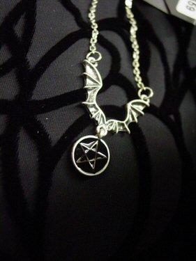 Unique Batwing Star Necklace - Item#WMS1523J-WLC459