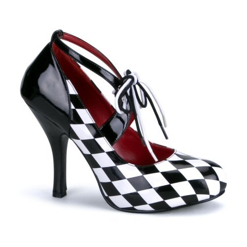 """Checkered Pump with 4"""" Heels and Matching Laces Sz 8 - Item #WMS279F-FUNHAR03"""