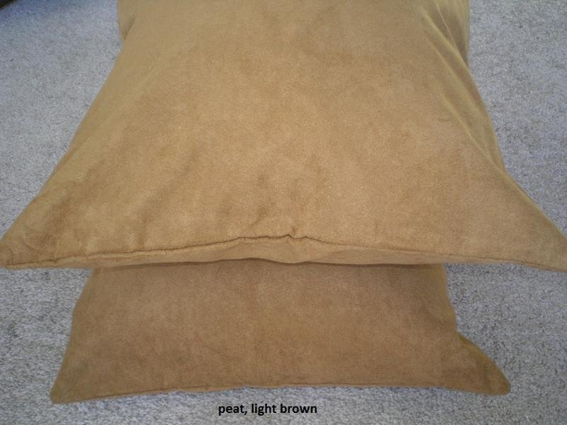 Set 2 of Peat ( Saddle)  Heavy Duty Micro sude Cushion Pillow Covers Set of 2 18x18 inches