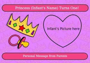 First Birthday Princess