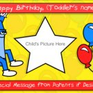 Colorful Birthday Announcement