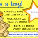 It's A Boy! - Bear