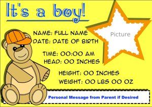 It's A Boy! - Bear