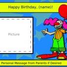 Clown Birthday Page