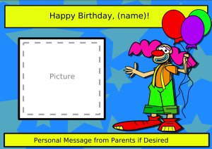 Clown Birthday Page