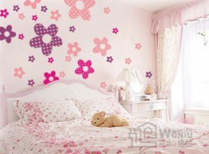 princess flower Wall Decal Sticker 28pcs