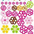 Color Flowers Wall Sticker