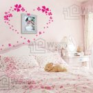 Heart Clover Decal Sticker 24pcs