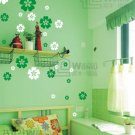 2 color flower Decal Sticker 23pcs