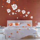 Wall decals and vinyl wall art - 18pcs rose flowers wall decal sticker