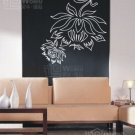 Wall decals and vinyl wall art - flower wall decal sticker 26 1/2&quot; *23 1/2&quot;