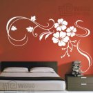 Wall decals and vinyl wall art - three flowers wall decal sticker 31 1/2&quot; *21&quot;