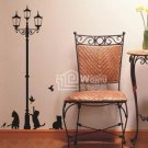Wall decals and vinyl wall art - cats lamp wall decal sticker 47 1/2&quot;*24 1/2&quot;
