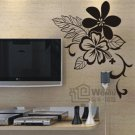 Wall decals and vinyl wall art - flower design  wall decal sticker 33 1/2&quot;* 27 1/2&quot;