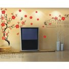 "Wall decals and vinyl wall art - plum blossom flower tree wall decal sticker 39""*71"""