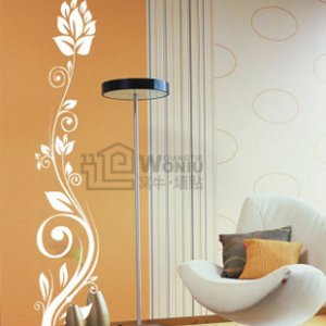 Wall decals and vinyl wall art - ear flower tree wall decal sticker 39&quot;*8&quot;