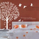 Wall decals and vinyl wall art - bird tree decal sticker 39 1/2""