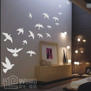 Wall decals and vinyl wall art -pigeon  decal sticker