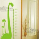 Wall decals and vinyl wall art -dinosaur  height chart decal sticker 49&quot;* 23&quot;