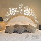 Wall decals and vinyl wall art -flower for bed decal sticker